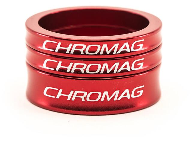 Chromag Headset Spacer Kit, rojo